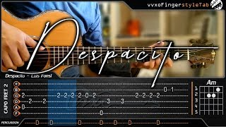 Despacito - Luis Fonsi, Daddy Yankee Ft. Justin Bieber - Cover (Fingerstyle Guitar) + TAB Tutorial