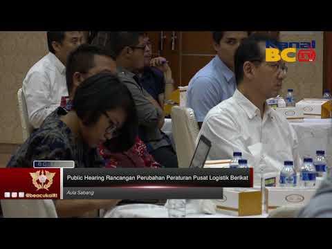 Public Hearing Rancangan Perubahan Peraturan Pusat Logistik Berikat
