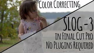 Colorgrading SLog In Final Cut Pro