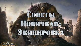 Советы новичкам: Экипировка персонажа в World of Warcraft