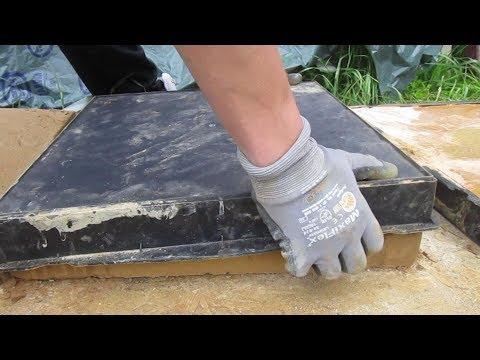 Gehwegplatten selber gießen und ausschalen