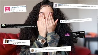 """REACTING TO THE HATE COMMENTS ON MY """"TELLING MY 10 YEAR OLD SISTER SHES ADOPTED"""" VIDEO"""