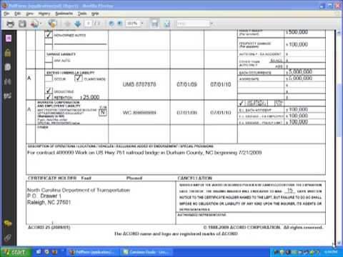 certificate of insurance tracking template