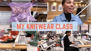 Day In My KNITWEAR CLASS! Fashion Textiles, Learn Techniques, Advice From Friends| C NICOLE VLOG 003