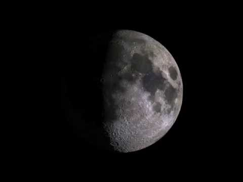 Moon Phase Animation with Beethoven's Piano Sonata No. 14