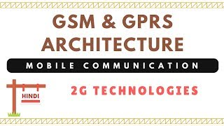 GSM & GPRS Architecture | Mobile Communication | in Hindi