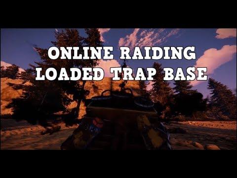 ONLINE RAIDING LOADED TRAP BASE - RUST
