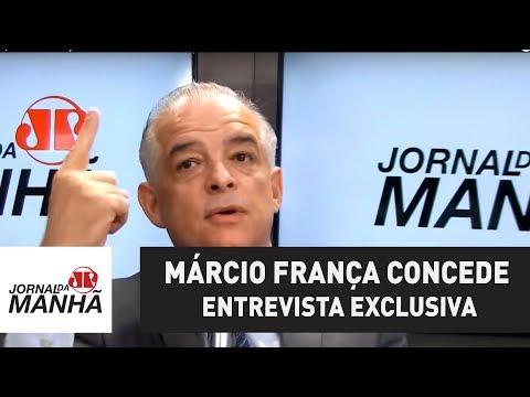 Governador de SP, Márcio França concede entrevista exclusiva ao Jornal da Manhã