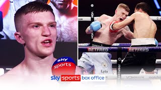 """""""The nerves got to me!""""   Campbell Hatton speaks openly after his professional debut"""