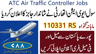 Latest Jobs in Pakistan Civil Aviation Authority For ATC Air Traffic Controler Apply Online All Pak