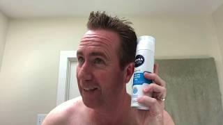 Shaving with Nivea Cooling Shaving Gel and Nivea After Shave Balm