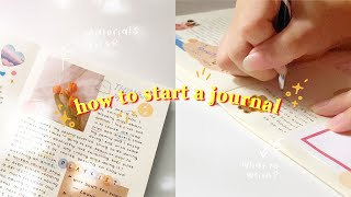 🎏 how to start a journal   materials I use, tips & advice, what to write, etc.
