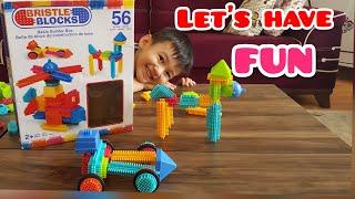 BRISTLE BLOCKS ll Playing Bristle blocks for kids ll çok eğlenceli çoçuk videosu