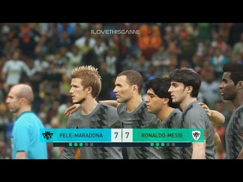 Team PELE-MARADONA vs Team RONALDO-MESSI I PES 2018 G.O.A.T. Penalty Shootout