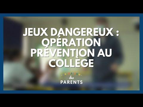 Jeux dangereux : opération prévention au collège - La Maison des parents #LMDP