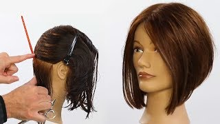 Basic A-Line (Triangular) Bob Haircut Tutorial