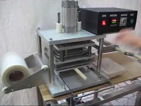 Полуавтоматический запайщик модель ТРС-1 с одновременной вырубкой из пленки