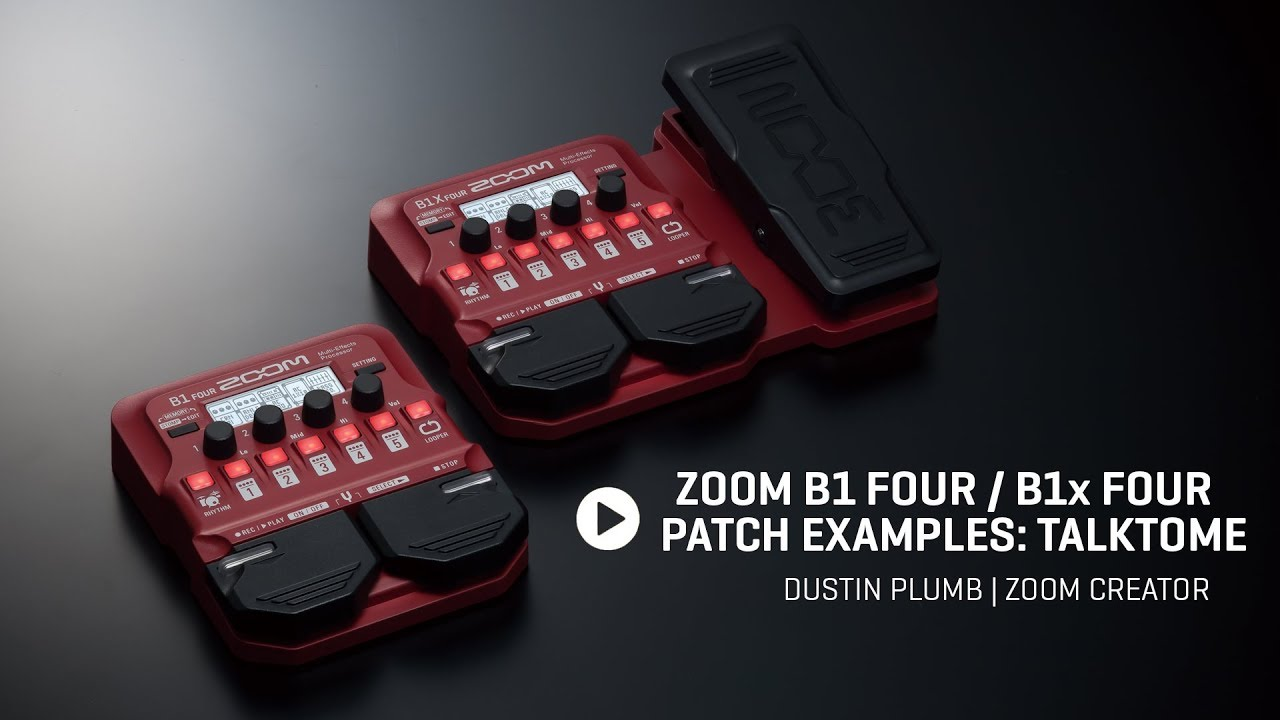 Zoom B1X Four Bass Multi-Effects Processor