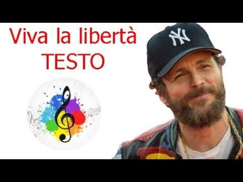 Jovanotti-Viva la libertà (testo in italiano)