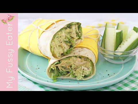 Video Chicken Avocado Wrap | Healthy Lunch Recipe