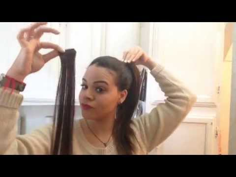 High ponytail using extensions tutorial