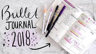My BULLET JOURNAL 2018 SETUP! 📝 How I ORGANIZE My LIFE! | Jamie Paige