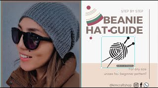 How to knit Beanie Hat for Beginners. Part 1