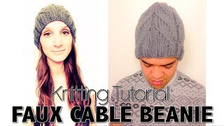 HOW TO KNIT EASY FAUX-CABLE BEANIE