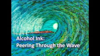 Alcohol Ink | Wave Painting #2 | Seascape