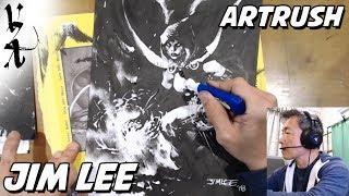 #ArtRush - Jim Lee drawing Raven | Kholo.pk