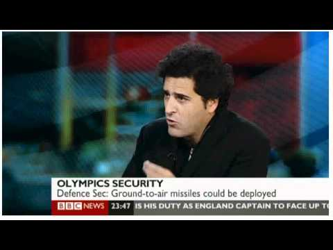 BBC TV interview on Olympic Security - London 2012