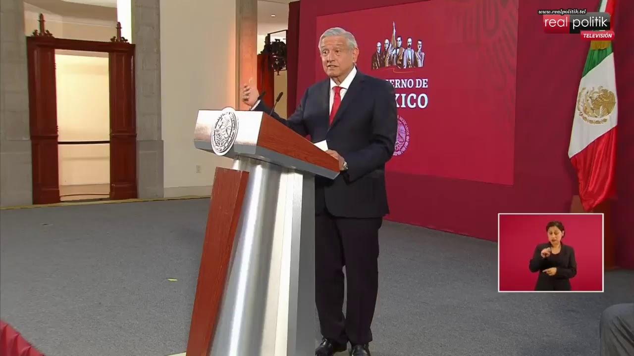 México: Conferencia de prensa del presidente AMLO desde el Palacio Nacional