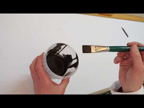 Kalligrafie mit dem Flachpinsel