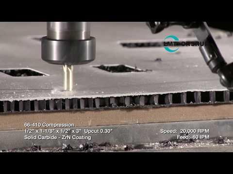 66-410 Cutting Cardboard Honeycomb by LMT Onsrud