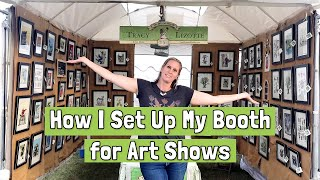 How To Set Up An Outdoor Art & Craft Booth Display And List Of Equipment Needed
