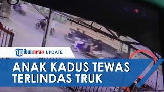 Video Detik-detik Anak Kepala Dusun di Sidrap Tewas Terlindas Truk, Gara-gara Ada Jalan Berlubang