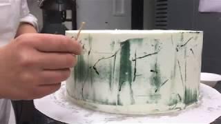 Marble-Looking Buttercream Cake Tutorial