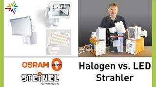 Vergleich: Halogenstrahler versus LED-Strahler [watt24-Video Nr. 141]