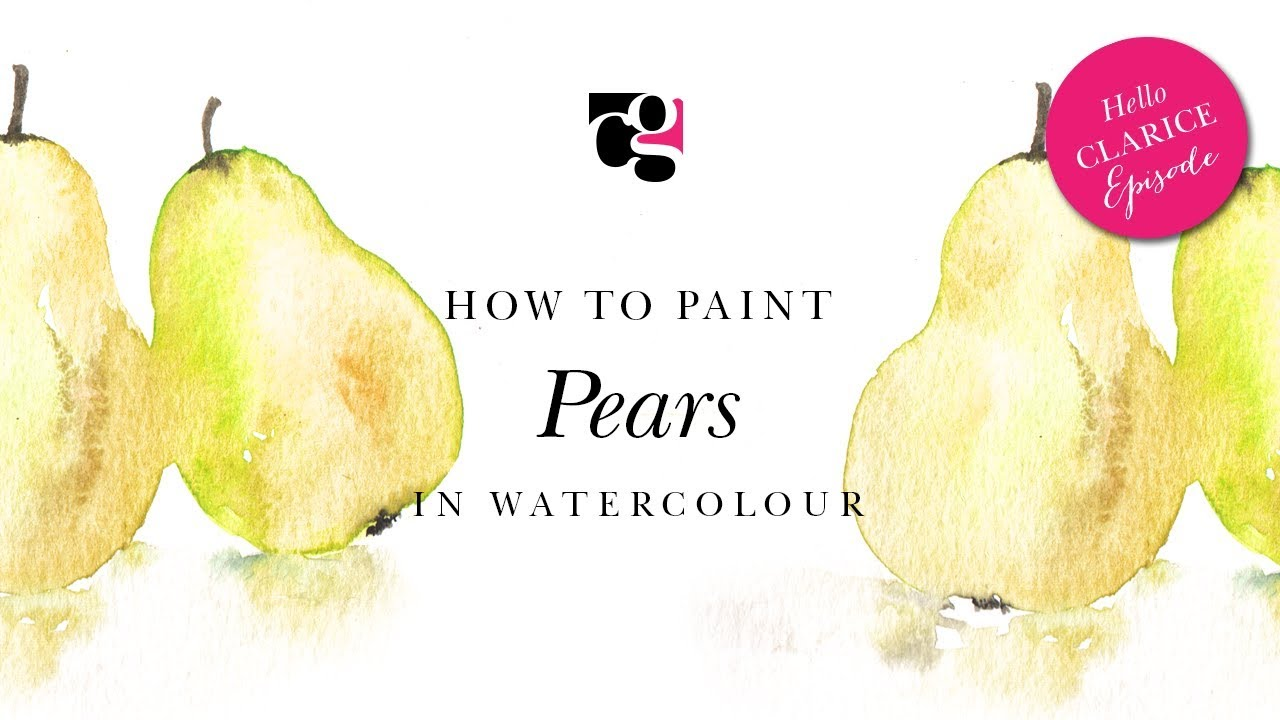 How to Paint Pears in Watercolour