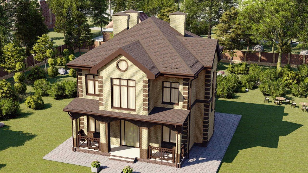 Красивый дом 2 этажа из газобетона для большой семьи 200 кв м