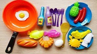 Đồ chơi nấu ăn bé gái 20 món, tôm cua cá mực, nồi chảo bếp, thìa dĩa... - Cooking toys (Chim Xinh)