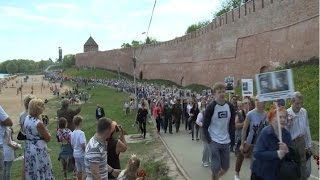 9 Мая в Великом Новгороде, как и по всей стране, прошло шествие участников всероссийской акции «Бессмертный полк»