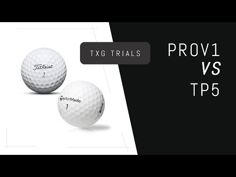 Titleist ProV1 VS Taylormade TP5 | Golf Ball Testing