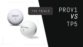 Titleist ProV1 VS Taylormade TP5 | Golf Ball Testing