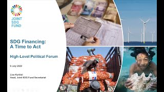 Joint SDG Fund_HLPF side-event 'SDG Financing: A Time to Act'