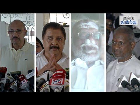 Celebrities-Pay-Last-Respects-to-Panju-Arunachalam-Tamil-The-Hindu