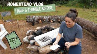 Cape Breton Cabot Trail Life //Starting Seeds // Beginner Homesteader From Scratch