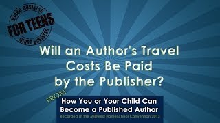 Will an Author's Travel Costs Be Paid by the Publisher?
