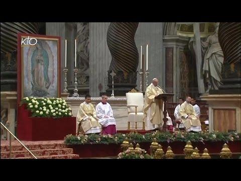 Messe du Pape François pour la fête de Notre-Dame de Guadalupe