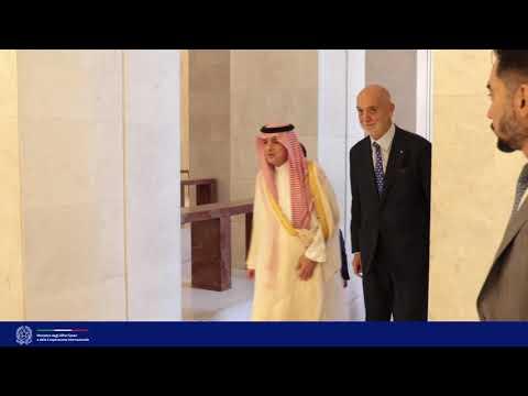 Incontro del Min. Di Maio con  il Ministro di Stato agli Affari Esteri saudita Al Jubeir